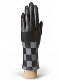 Перчатки женские (шерсть и кашемир) IS0210 black/grey (Eleganzza)