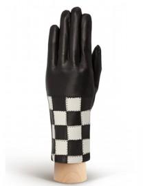 Перчатки женские (шерсть и кашемир) IS0210 black/ivory (Eleganzza)