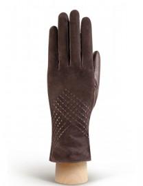 Перчатки женские (шерсть и кашемир) IS02120 mocca/d.brown (Eleganzza)
