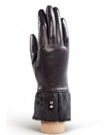 Перчатки женские (шерсть и кашемир) IS03806 black (Eleganzza)