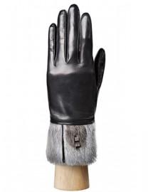 Перчатки женские (шерсть и кашемир) IS03806 black/grey (Eleganzza)