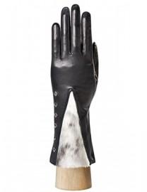 Перчатки женские (шерсть и кашемир) IS03807 black/grey (Eleganzza)
