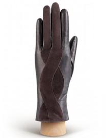 Перчатки женские (шерсть и кашемир) IS04000 mocca/d.brown (Eleganzza)