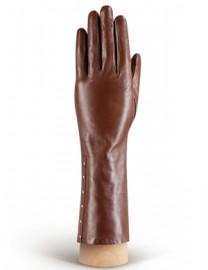 Перчатки женские (шерсть и кашемир) IS06301 d.brown shine (Eleganzza)
