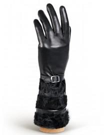 Перчатки женские (шерсть и кашемир) IS07010 black (Eleganzza)