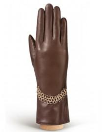 Перчатки женские (шерсть и кашемир) IS20510 d.brown (Eleganzza)