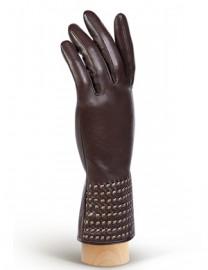 Перчатки женские (шерсть и кашемир) IS50307 d.brown (Eleganzza)