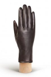 Перчатки женские (шерсть и кашемир) IS59020 d.brown/beige (Eleganzza)