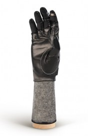 Перчатки женские (шерсть и кашемир) TOUCH HP05000 black/grey (Eleganzza)