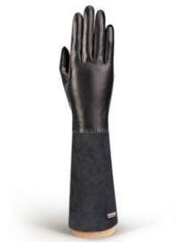 Перчатки женские (шерсть и кашемир) TOUCH IS02059 black/d.grey (Eleganzza)
