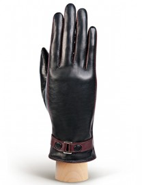 Перчатки женские (шерсть и кашемир) TOUCH IS02074 black/cabernet (Eleganzza)