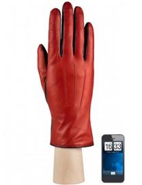 Перчатки женские (шерсть и кашемир) TOUCH IS55200 luggage/black (Eleganzza)