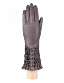 Перчатки женские подкладка из шелка F-IS0070 d.grey (Eleganzza)