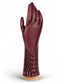Перчатки женские подкладка из шелка F-IS0070 merlot (Eleganzza)