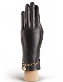 Перчатки женские подкладка из шелка HP294 black (Eleganzza)