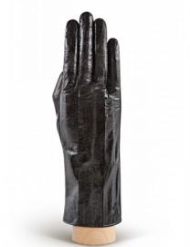 Перчатки женские подкладка из шелка HP60 black (Eleganzza)