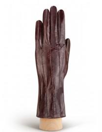 Перчатки женские подкладка из шелка HP60 d.brown (Eleganzza)