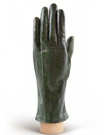 Перчатки женские подкладка из шелка HP60 green (Eleganzza)