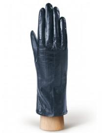 Перчатки женские подкладка из шелка HP60 navy blue (Eleganzza)