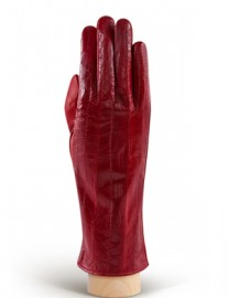 Перчатки женские подкладка из шелка HP60 red (Eleganzza)