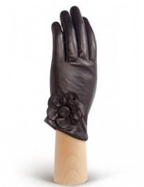Перчатки женские подкладка из шелка HP7575 black (Eleganzza)