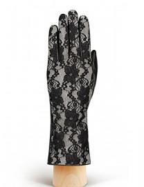 Перчатки женские подкладка из шелка IS01020 black/grey (Eleganzza)