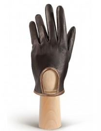 Перчатки женские подкладка из шелка IS01170 brown/bronze (Eleganzza)