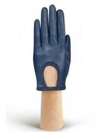 Перчатки женские подкладка из шелка IS01170 d.blue (Eleganzza)