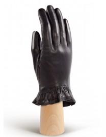 Перчатки женские подкладка из шелка IS01818 black (Eleganzza)