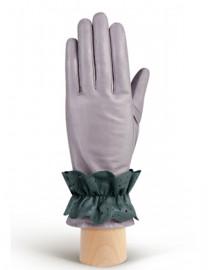 Перчатки женские подкладка из шелка IS019 l.grey/cyclone (Eleganzza)