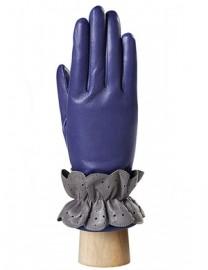 Перчатки женские подкладка из шелка IS019 violetblue/grey (Eleganzza)