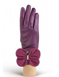 Перчатки женские подкладка из шелка IS02000 berry/cranberry (Eleganzza)