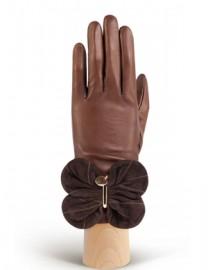 Перчатки женские подкладка из шелка IS02000 concer/d.brown (Eleganzza)