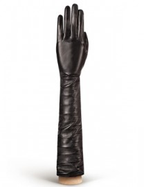 Перчатки женские подкладка из шелка IS02005 black (Eleganzza)