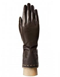 Перчатки женские подкладка из шелка IS02843 d.coffee/bronze (Eleganzza)