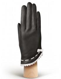 Перчатки женские подкладка из шелка IS02847 black (Eleganzza)