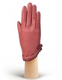 Перчатки женские подкладка из шелка IS02847 clover/merlot (Eleganzza)
