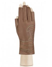 Перчатки женские подкладка из шелка IS065 camel (Eleganzza)