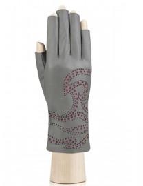 Перчатки женские подкладка из шелка IS065 grey (Eleganzza)