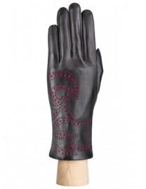 Перчатки женские подкладка из шелка IS066 black (Eleganzza)