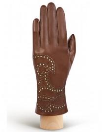 Перчатки женские подкладка из шелка IS066 camel (Eleganzza)