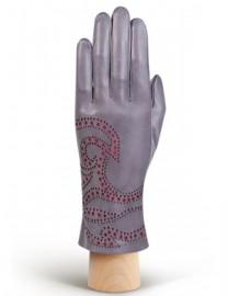 Перчатки женские подкладка из шелка IS066 l.grey (Eleganzza)