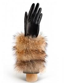 Перчатки женские подкладка из шелка IS07000 black (Eleganzza)