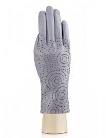 Перчатки женские подкладка из шелка IS072 l.grey (Eleganzza)