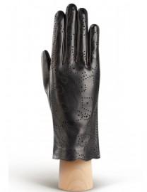 Перчатки женские подкладка из шелка IS076 black (Eleganzza)
