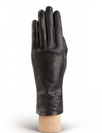 Перчатки женские подкладка из шелка IS078 black (Eleganzza)