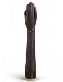 Перчатки женские подкладка из шелка IS08008 d.brown (Eleganzza)