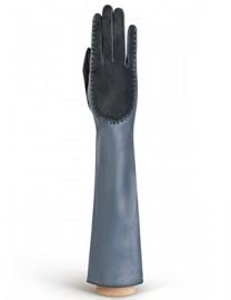 Перчатки женские подкладка из шелка IS08086 grey/d.grey (Eleganzza)