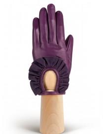 Перчатки женские подкладка из шелка IS11600 amethyst/d.violet (Eleganzza)