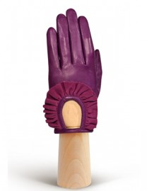 Перчатки женские подкладка из шелка IS11600 berry/cranberry (Eleganzza)